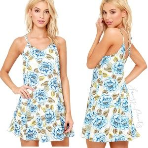 JOA mini dress floral print drop waist Mindfulness
